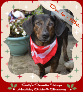 Dolly's Howliday guide for holiday dog gifts.