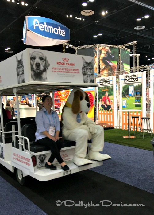 Golf cart at Global Pet Expo 2017 Orange County Convention Center