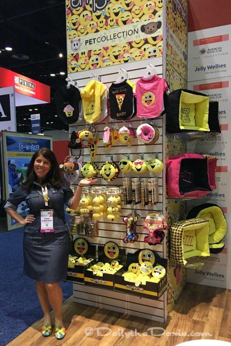 Pet industry trends at Global Pet Expo - licensed merchandise - emojis