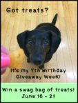Dolly's 7th Birthday Giveaway Week — Swag Bag Friday – Dog Treats!