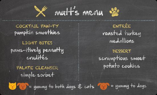 pet safe thanksgiving recipe, menu